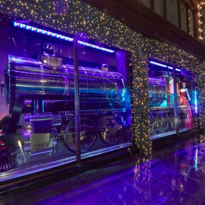 """The Harrods Express"" Christmas Window Display 2013"