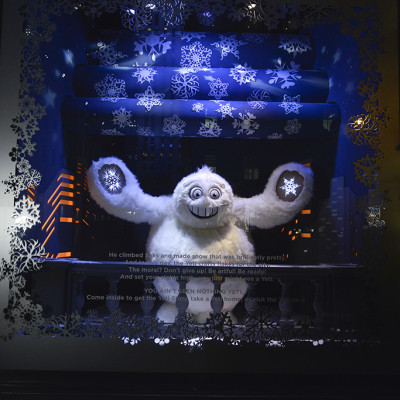 "Saks Fifth Avenue ""The Yeti Story"" Holiday Window Display 2013"