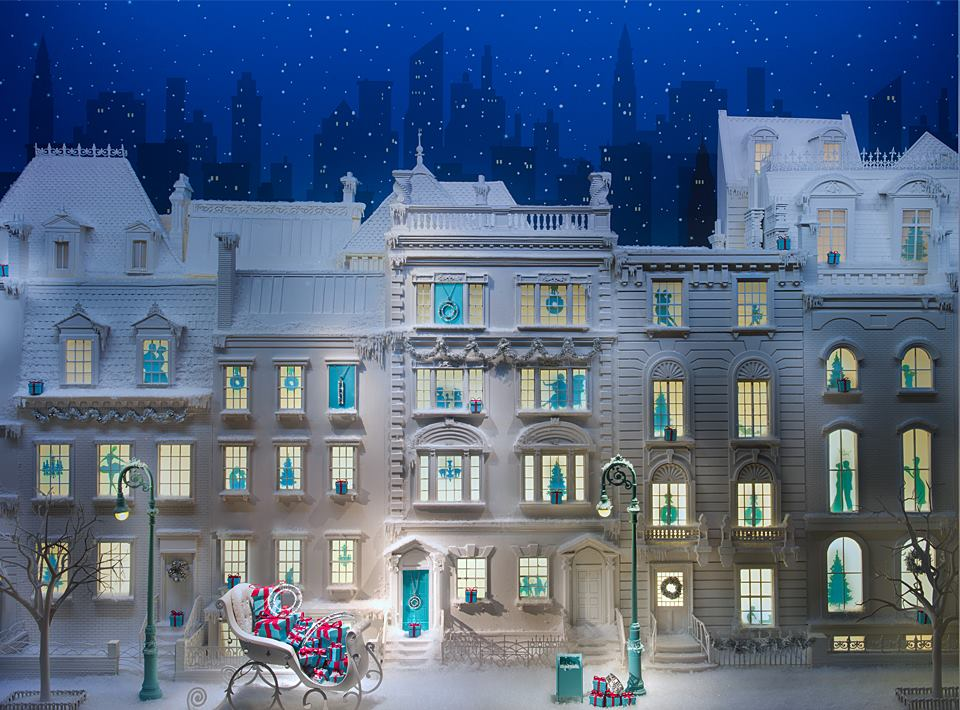 "Tiffany & Co ""Snowy New York Streets"" Holiday Window Displays 2013"