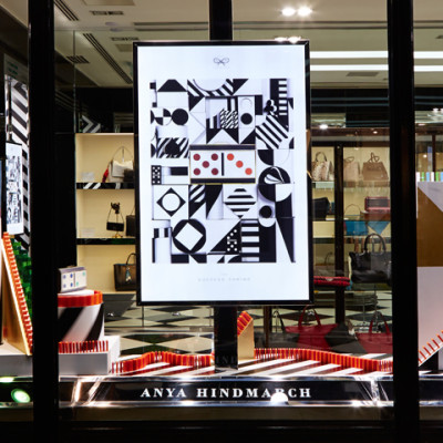 Anya Hindmarch Domino Christmas Window Display