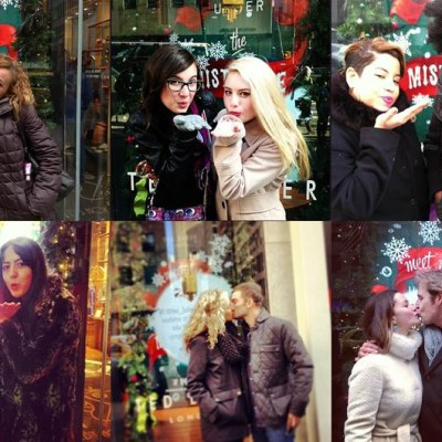 "Ted Baker ""Merry Kissmas"" Interactive Christmas Window Display"