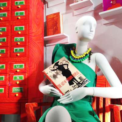 The Cary Collection Books at Bergdorf Goodman Spring Window Display