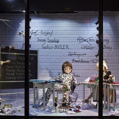 Spring Summer 'Fashion School' Window Display at Harvey Nichols
