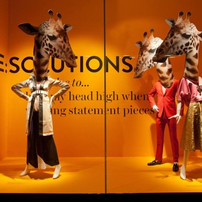 "Animal Heads at Holt Renfrew ""STYLE RE:SOLUTIONS"" Window Displays"