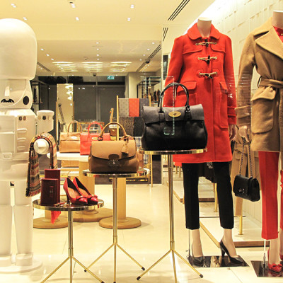 Mulberry Guards Winter Window Display