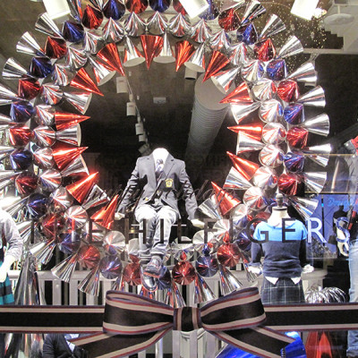 Tommy Hilfiger Festive Holiday Window Display 2013