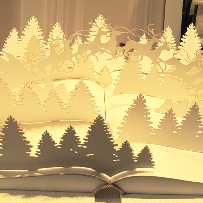 "Trussardi ""Pop-Up Book"" Christmas Window Display 2013"