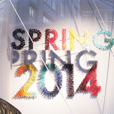 Bershka String Art Spring Window Display 2014