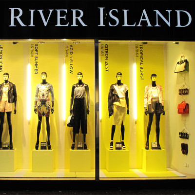 River Island 'Blue & Yellow Pantone Colors' Spring / Summer Window Display