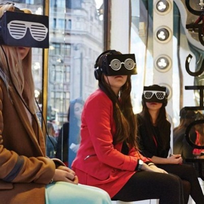 TOPSHOP 'Virtual Reality' London Fashion Week Window Display