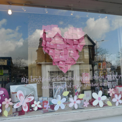 Belly Button Designs 'Love Hurts' Valentine Window Display by Toni Child