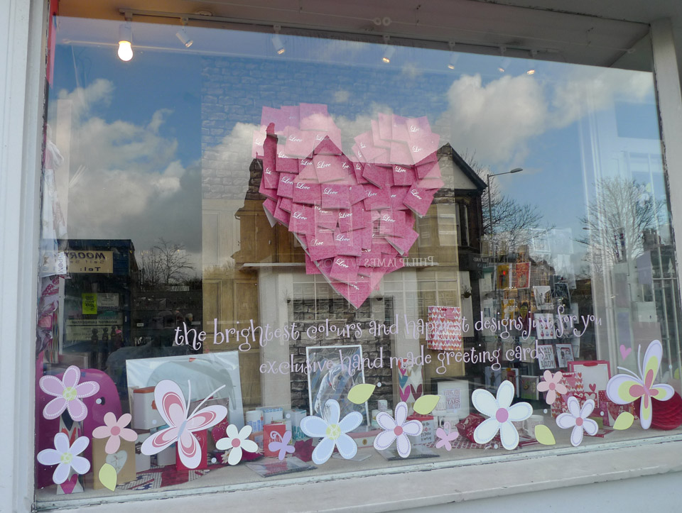 The Concept Was To Design A Valentines Themed Installation Using Stock From The Shop To Create A Kinetic Three Dimensional Kind Of Effect Despite The