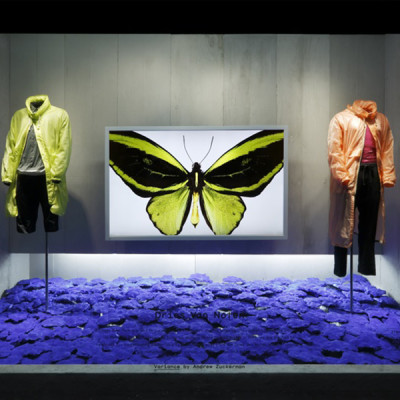 Dries Van Noten's Inspirations at Barneys Window Displays