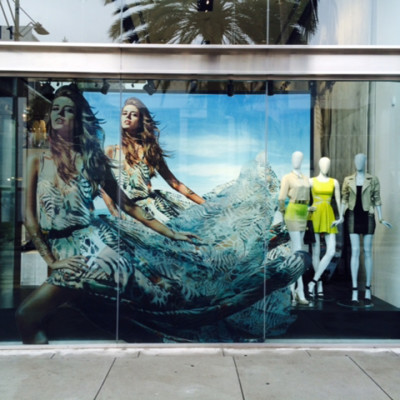 GUESS by Marciano 3D Ad Campaign Spring Window Display