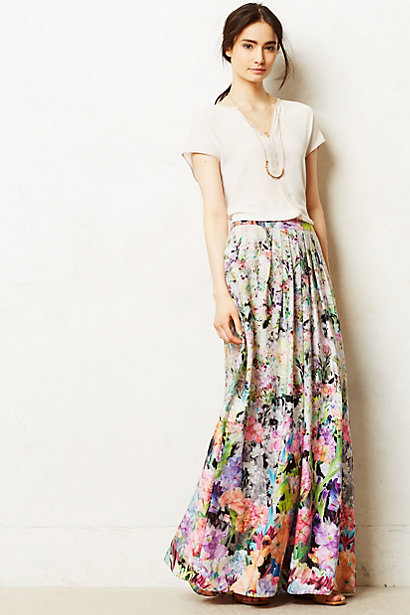 Anthropologie  Firefleur Maxi Skirt