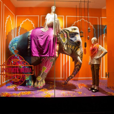 H Project 'Uncrate India' Window Display at Holt Renfrew