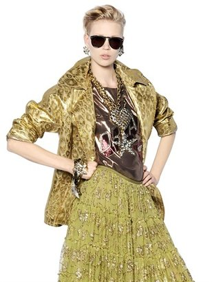 Lanvin Lurex & Cotton Blend Jacquard Jacket