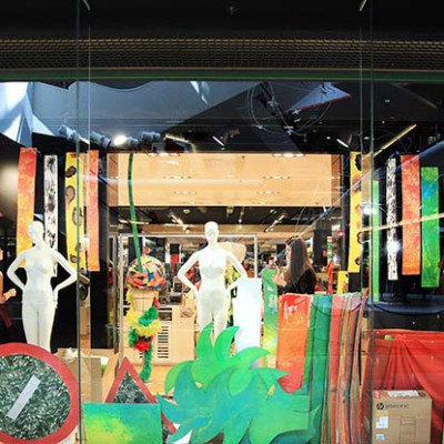 Galeries Lafayette 'Wild Fashion' Spring Window Display
