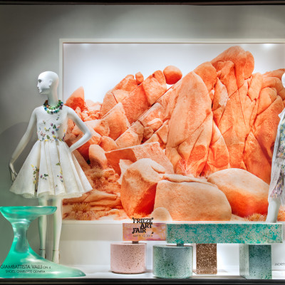Bergdorf Goodman 'Frieze–Fusing Art & Fashion' Window Display