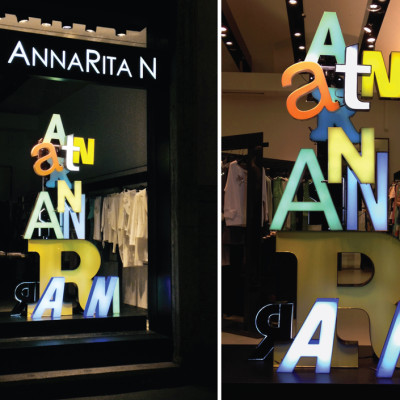 AnnaRita N Design Week Window Display by ARTE VETRINA PROJECT