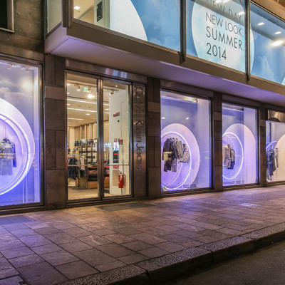 Calvin Klein 'Up In The Clouds' Summer Window Display by StudioXAG
