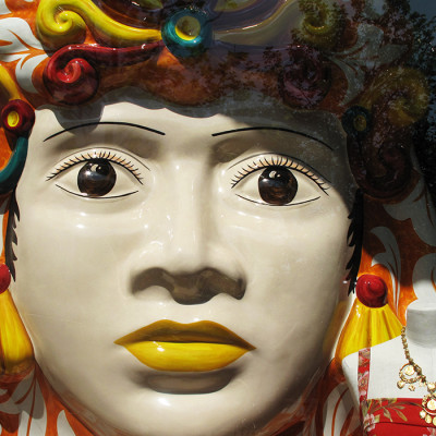 Dolce & Gabbana 'Sicilian Ceramic Heads' Spring Window Display