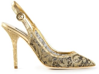Dolce & Gabbana Lace sling back pumps