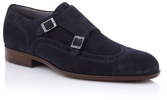 HUGO BOSS Suede leather double monk 'Brostio S'