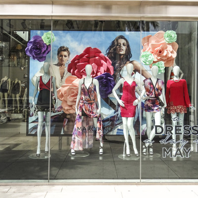 Marciano 'a DRESS a day in MAY' Spring Window Display