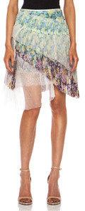 Nina Ricci Ruffle Silk Skirt