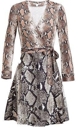 Diane von Furstenberg  Amelia Python Printed Silk Jersey Wrap Dress