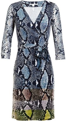 Diane von Furstenberg Python Printed Wrap Dress