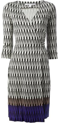 Diane von Furstenberg Harlequin Check Wrap Dress