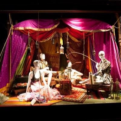 'Glamping' Summer Window Display at Holt Renfrew