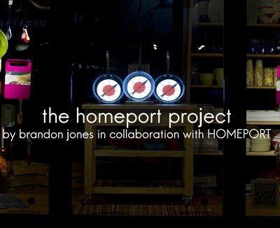 HOMEPORT Cooking Video Projection on Pans by Brandon Jones