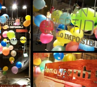 Lomography Balloons Summer Window Display