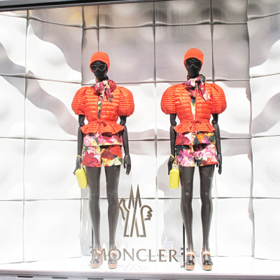 Moncler Floral Summer Window Display 2014