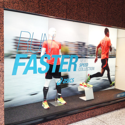 ASICS 'RUN FASTER' Summer Window Display