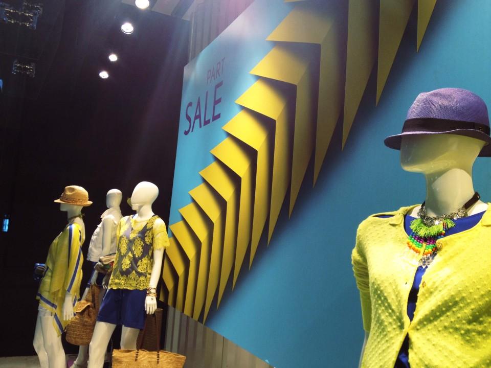 Aizone Summer Sale Window Displays