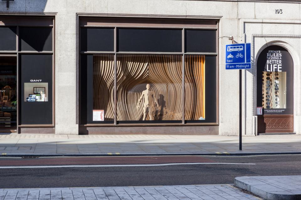 GANT RIBA Regent Street Window Displays by Sybarite Architects