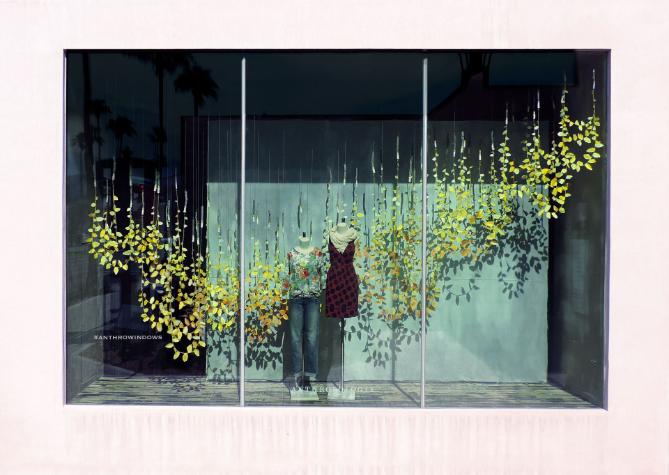 Anthropologie 'Leaves' Fall Window Display 2014