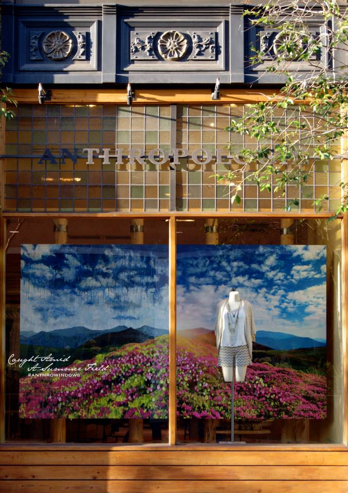 Anthropologie 'Landscape' Summer Window Display 2014