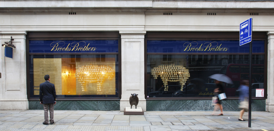 Sheep RIBA Regent Street Windows at Brooks Brothers by Squire and Partners