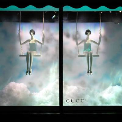 Harrods 'The Silver Lining Collection' Shoe Heaven Window Displays