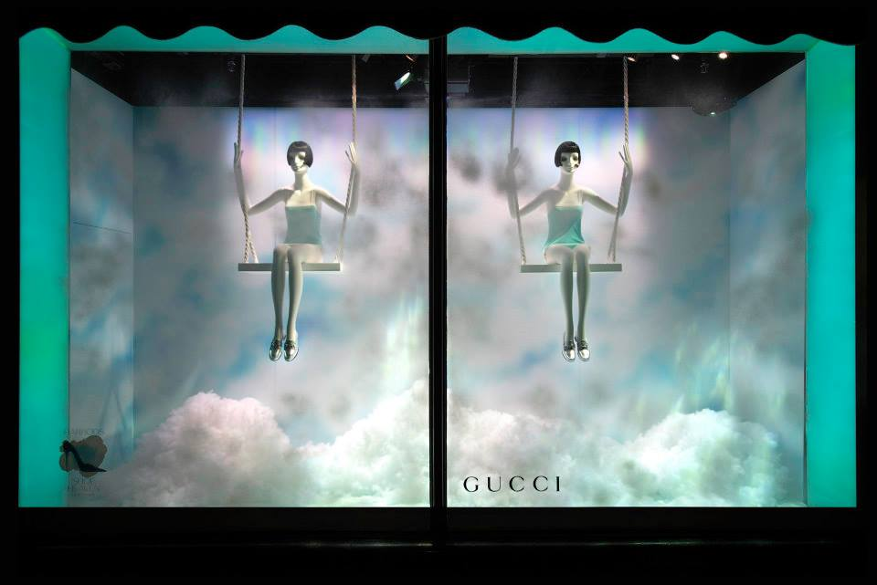 Harrods 'The Silver Lining' Shoe Heaven Window Displays