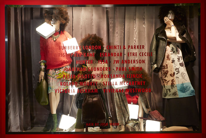 Liberty London 'Fashion Week' Fall Window Display