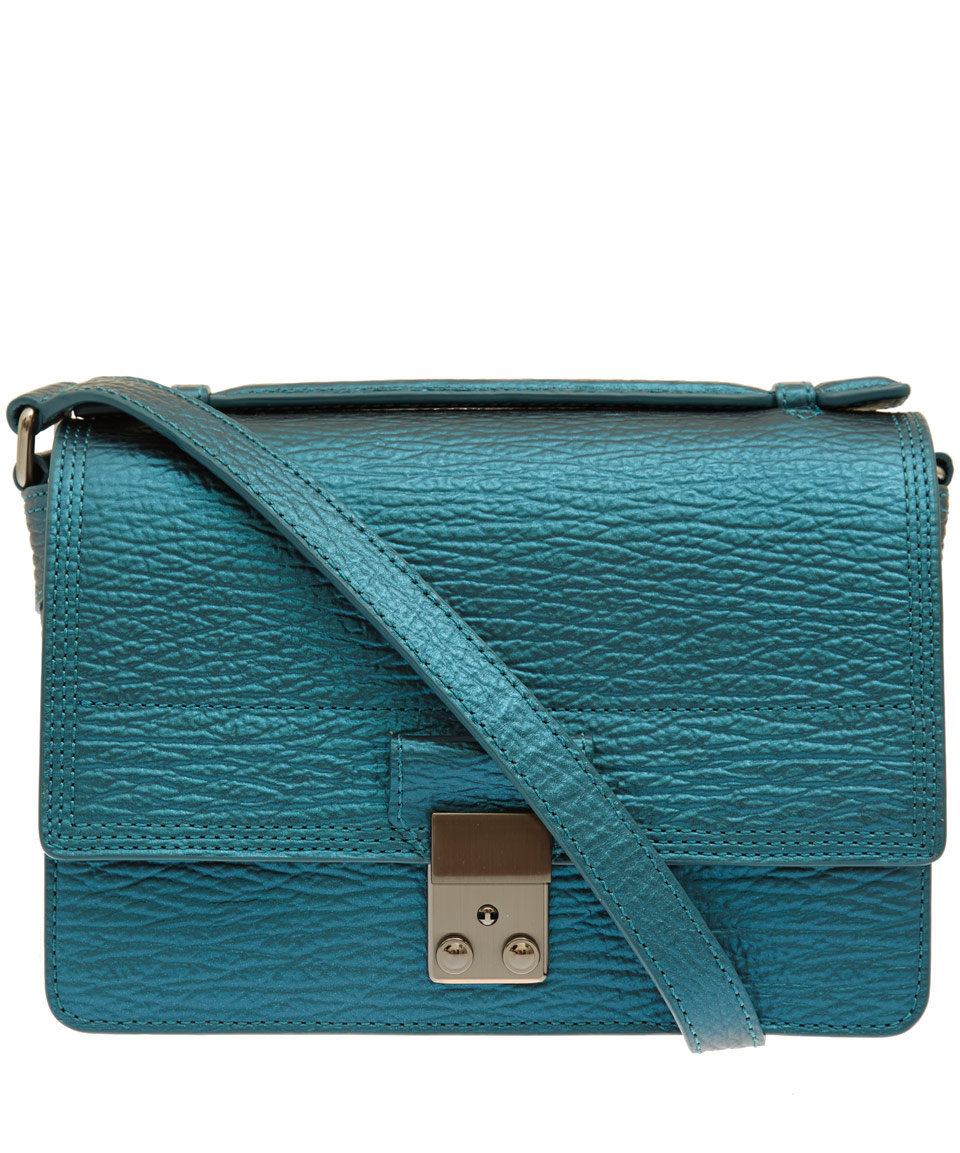 Phillip Lim Mini Turquoise Pashli Messenger Leather Bag