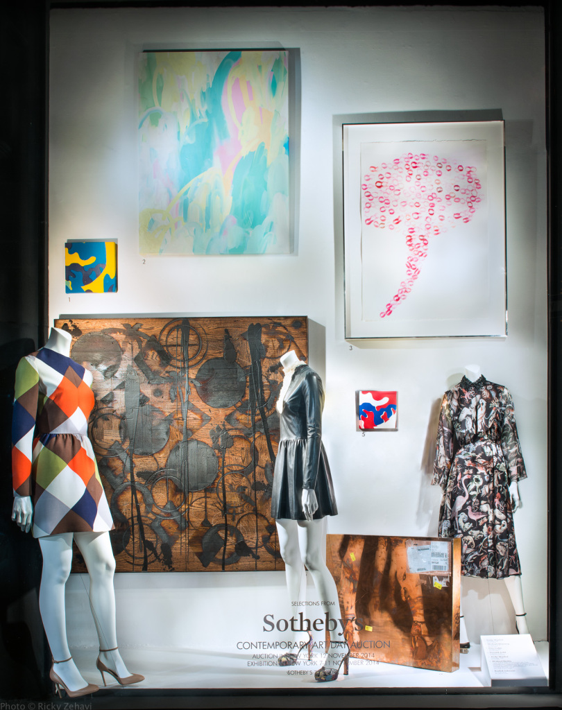 Bergdorf Goodman Sotheby's Contemporary Art Window Displays