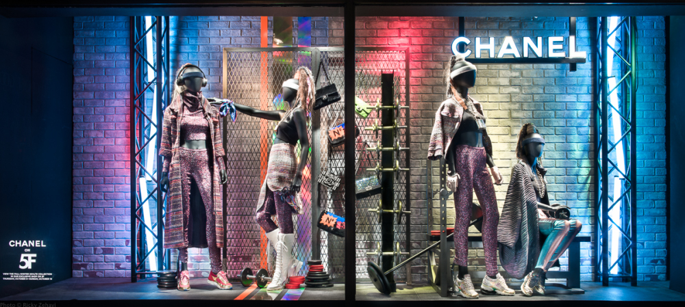 Bergdorf Goodman 'Chanel Boxing Gym' Window Displays