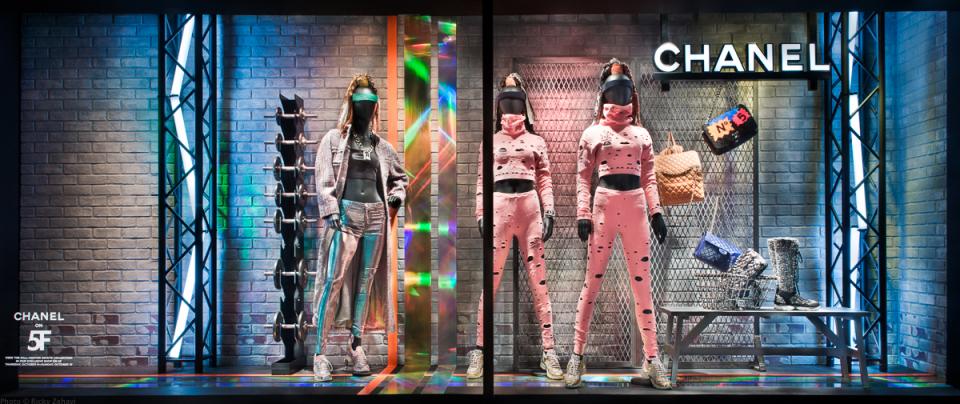 Bergdorf Goodman 'Chanel Boxing Gym' Window Displays
